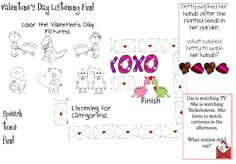 Speech Time Fun: Valentine's Day Listening Fun! Pinned by SOS Inc. Resources @sostherapy http://pinterest.com/sostherapy.