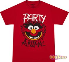 Get this Muppets Party Animal shirt at 80sTees. We have a huge selection, same day shipping and excellent customer service. Check out all of our Muppets t-shirts here at 80sTees.