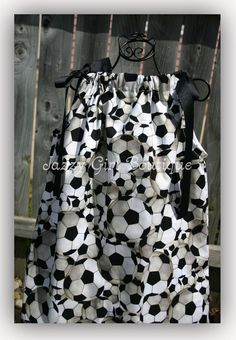 Hey, I found this really awesome Etsy listing at http://www.etsy.com/listing/74148547/girls-pillowcase-dress-soccer-fabric