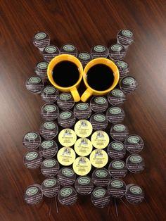 "We're having a hoot! As you can see, we've got some very ""Talon-ted"" and creative team members @Keurig   #owl #coffee #keurig #k-cup #greenmountaincoffee"