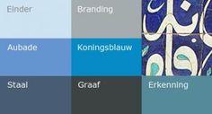 Blauw in verschillende nuances want blauw is de kleur van onbegrensdheid.