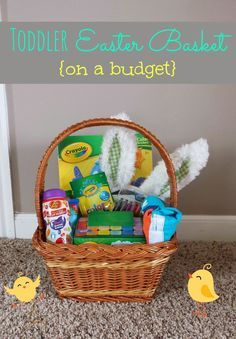 25 easter basket ideas for 1 2 year olds worldmarkettribe simple suburbia toddler easter basket ideas coloring book 1 crayons 2 bath negle Gallery