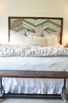 Like this headboard.  If only I had a miter saw...or something....