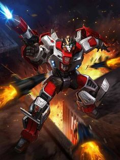 Autobot Red Alert Artwork From Transformers Legends Game