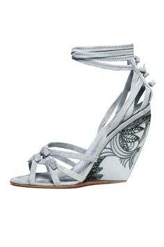 Waterlily Soft Suede Lucite Wedges by Donna Karan. So lovely!