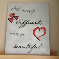 <3 this painting. Canvas quote
