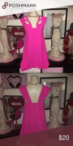 TOBI  neon pink dress TOBI  neon pink dress size medium Tobi Dresses Mini