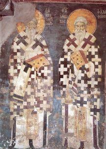 Manuil Panselinos: Frescele Bisericii Protaton din Karyes (199 fotografii) | Sfântul Munte Athos Holi, Saints, Icons, Holi Celebration, Ikon, Symbols