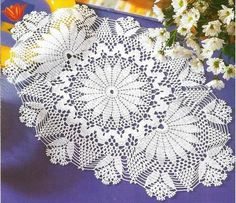 Crochet oval doily ♥LCD-MRS♥ with diagram