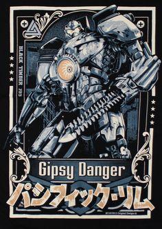 PACIFIC RIM GIPSY DANGER ROBOT MAN WOMAN T-SHIRT BLACK,WHITE SIZE MEDIUM | eBay