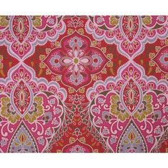 Eijffinger Bindi Damask Paisley Indian Inspired Feature Wallpaper Red 397811