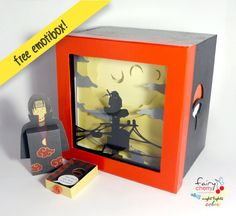 Itachi shadow box with light  Special night light by FairyCherry