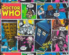 """Fans of the popular Doctor Who will immediately recognize our favorite villains: Daleks, The Silence, Cybermen, Weeping Angles, Zygons, Silurians, Sontarans, and Davros as well as some of his helpers. We would be afraid, but see that the Doctor is to the rescue as the Tardis draws near. Larger frames are about 9"""" across, 'Comics' from the 'Doctor Who' collection © and Licensed by BBC WW Ltd. for Springs."""