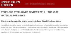Stainless Steel Sinks Reviews 2016 – The Wise Material for Sinks http://www.unclepaulskitchen.com/kitchen-sinks/steel/