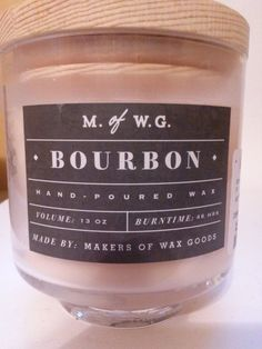 Makers Of Wax Goods Hand Poured Bourbon 2 Wick Candle 48 Hour Burn Time