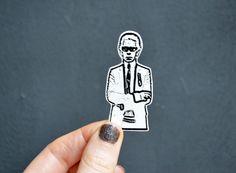 Brosche Karl Lagerfeld // Karl Lagerfeld brooch by invisiblecrown via DaWanda.com