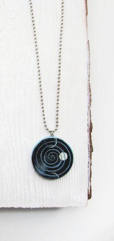 Galaxy pendant Dark blue pendant Space jewelry by MagicTwirl
