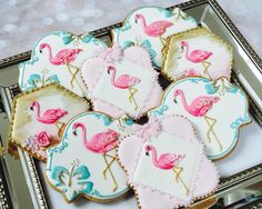 Flamingo and hibiscus cookies by Little-Fancies