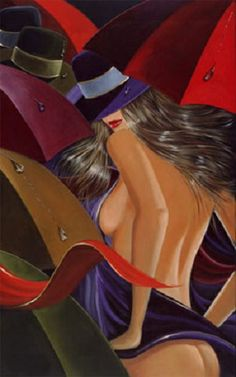 3235 handpainted modern oil painting on canvas wall art picture  for home decor unique gift fashion sexy lady red ribbon $165.00