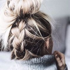 Inside out braid up the back