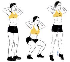 squat voor trainen bilspieren