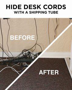 Kabel Verstauen Organisieren Organisierter Schreibtisch Verstecken Zimmer Einrichten Arbeitszimmer
