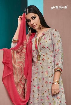 Jay Vijay Ruhaniyat Digital Printed Pashmina with embroidery Work Winter Collection Dress Material Winter Collection, Dress Collection, Pakistani Salwar Kameez, Embroidery Suits, Indian Fashion, Jay, Digital Prints, Fashion Dresses, Chiffon
