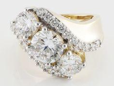 Bella Luce (R) 7.75ctw Diamond Simulant Round Eterno (Tm) Yellow Ring (4.32ctw Dew)