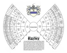 Six Generation Genealogy Bow tie Chart  Family Tree