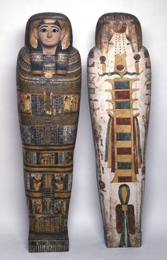"""theancientwayoflife: """"~ Anthropoid inner coffin of Takhebkhenem, Lady of the house. daughter of Pedikhons. Period: Late Period Place of origin: Thebes """""""