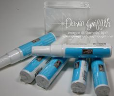 Thanks, Dawn, for this tip using 2-way glue pen and clear stamps and acrylic blocks. You Rock!