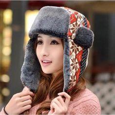 4350142c478ddf Orange snowflake bomber hat with ear flaps for women geometric winter  ushanka