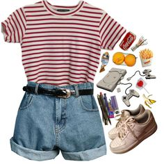 A fashion look from June 2016 featuring Retrò shorts and NIKE sneakers. Browse and shop related looks.