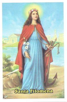 St. Philomena Religious Images, Religious Art, Catholic Saints, Roman Catholic, St Judas, Saint Philomena, Punziella, All Saints Day, Biblical Art