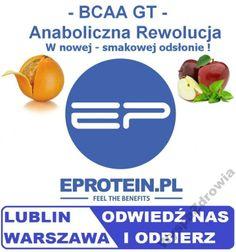 !EProtein BCAA GT 500g aminokwasy GLUTAMINA 3SMAKI