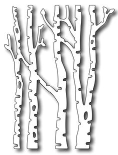 Frantic Stamper - Precision Dies - Small Birch Trees -Measuring 3 tall x wide, this birch tree die is a nice accent size for a card leaving you Christmas Crafts, Christmas Decorations, Diy And Crafts, Paper Crafts, Illustration Noel, Memory Box Dies, Frantic Stamper, Scroll Saw Patterns, Paper Cutting
