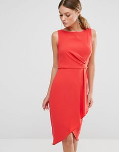 8552fef3576 Coast Drew Twist Drape Front Dress with Wrap Skirt at asos.com. Große ...
