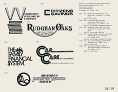 Eric Carl Collection of vintage logos from a edition of the book World of Logotypes jpg Logos S Logo Design, Vintage Logo Design, Badge Design, Vintage Designs, Vintage Logos, Branding Design, Graphic Design, Trademark Symbol, Brand Symbols