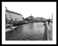 Boat Framed Print featuring the photograph Boat For Tourists On The Spree River by Cuiava Laurentiu Poster Prints, Framed Prints, Frame Shop, Hanging Wire, Wood Print, How To Be Outgoing, Beverly Hills, Fine Art America, New York Skyline