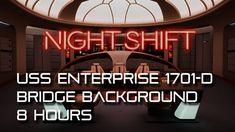 🎧 Star Trek: TNG Bridge Ambience NIGHT SHIFT *8 HOURS* (white noise, for...