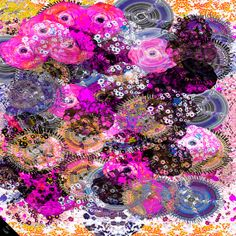 Tiger lily print on gold  At first glance, this could be a rose garden, but there is a twist. In among the floral patterns, tigers are lurking. Clever and playful incorporation of a tiger theme, keeps this incredibly pretty scarf sharp and elegant. This scarf demands a second look.