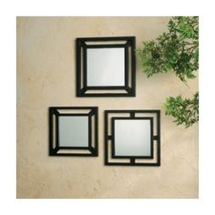 3 Piece Double Square Mirrors
