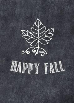 Happy Fall Chalkboard Printable 5x7 printable by SassyInkStudio