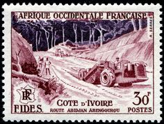 1956 AOF French West Africa engraved by Serres