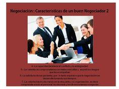 Negociación características de un buen negociador Teamwork, Goals, Tips