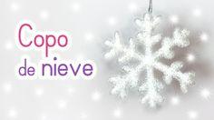 DIY adornos navideños: Copos de nieve fáciles