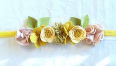 Felt Flower Crown // Mini Crown // Pink by fancyfreefinery on Etsy