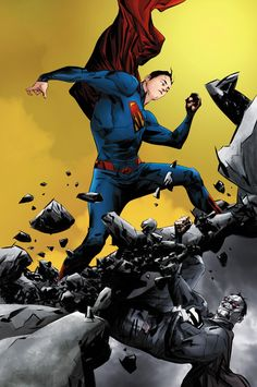 Superman vs Bizarro by Jae Lee Superman Comic, Mundo Superman, Superman Stuff, Superman Family, Comic Book Artists, Comic Artist, Comic Books Art, Dc Comics, Fantastic Four