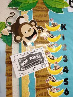 Detail of Bananas for Box Tops bulletin board