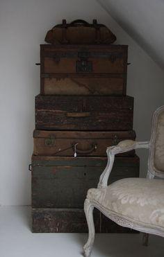 wonderful old suitcases